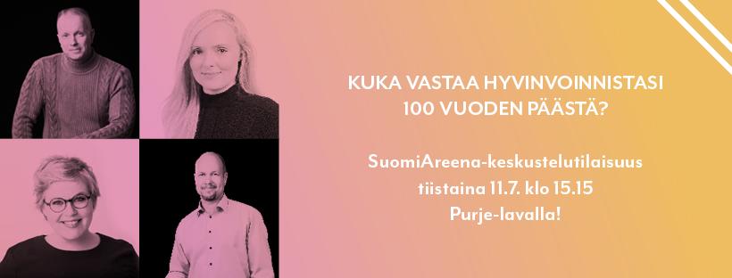 KUTSU: Suomi sadan vuodesta päästä -Kuka vastaa hyvinvoinnistasi? Porissa 11.7.2017 klo 15.15