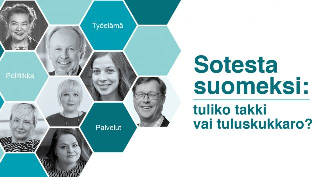 Kutsu: Sotesta suomeksi: tuliko takki vai tuluskukkaro?